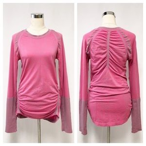 Climawear Pink Long Sleeve Seamless Top Sz L